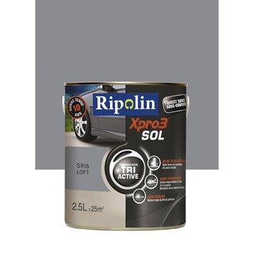 Peinture sol extérieur / intérieur Xpro 3 RIPOLIN, gris loft, 2.5 l