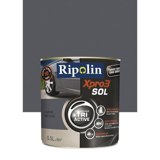 peinture sol ext rieur int rieur xpro 3 ripolin gris b ton 0 5 l leroy merlin. Black Bedroom Furniture Sets. Home Design Ideas