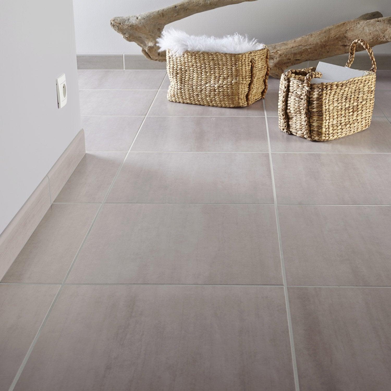Carrelage sol et mur gr ge effet b ton eiffel x for Carrelage sol interieur blanc