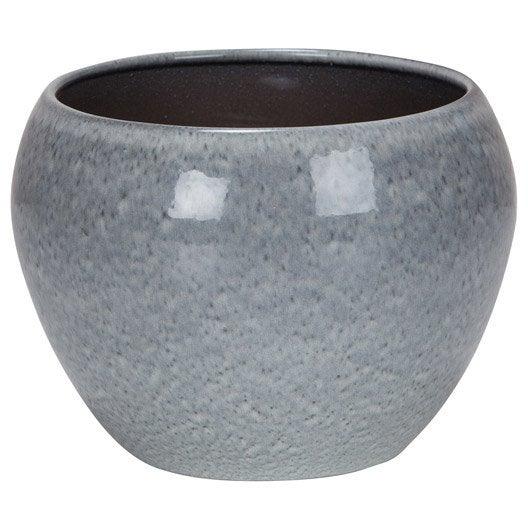 cache pot terre cuite maill e scheurich x cm gris leroy merlin. Black Bedroom Furniture Sets. Home Design Ideas