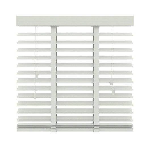 store v nitien venitien bois fsc 50 mm bois blanc galon blanc x cm leroy merlin. Black Bedroom Furniture Sets. Home Design Ideas