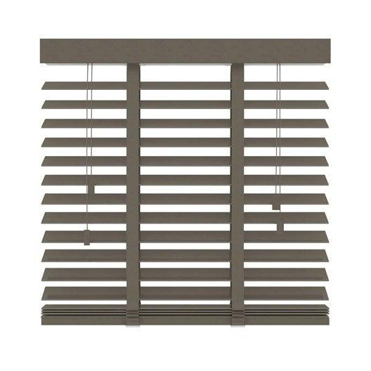 store v nitien venitien bois fsc 50 mm bois taupe galon. Black Bedroom Furniture Sets. Home Design Ideas