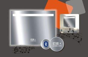 Miroir Lumineux Avec éclairage Intégré L 90 X H 70 Cm Bluetooth
