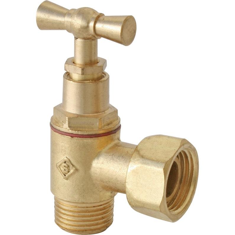 rf 73410274 robinet darrt wc clapet en querre laiton brut - Robinet Laiton Leroy Merlin