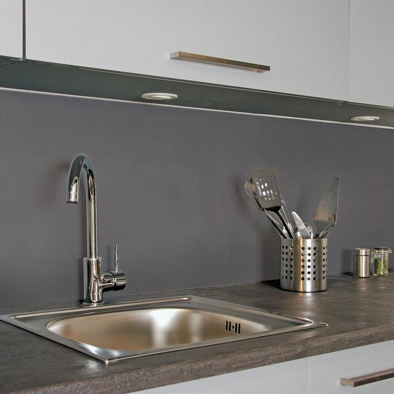 cr dence de cuisine gris ardoise leroy merlin. Black Bedroom Furniture Sets. Home Design Ideas