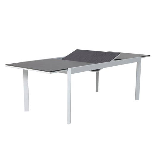 table de jardin de repas naterial marbella rectangulaire gris 6 personnes leroy merlin. Black Bedroom Furniture Sets. Home Design Ideas