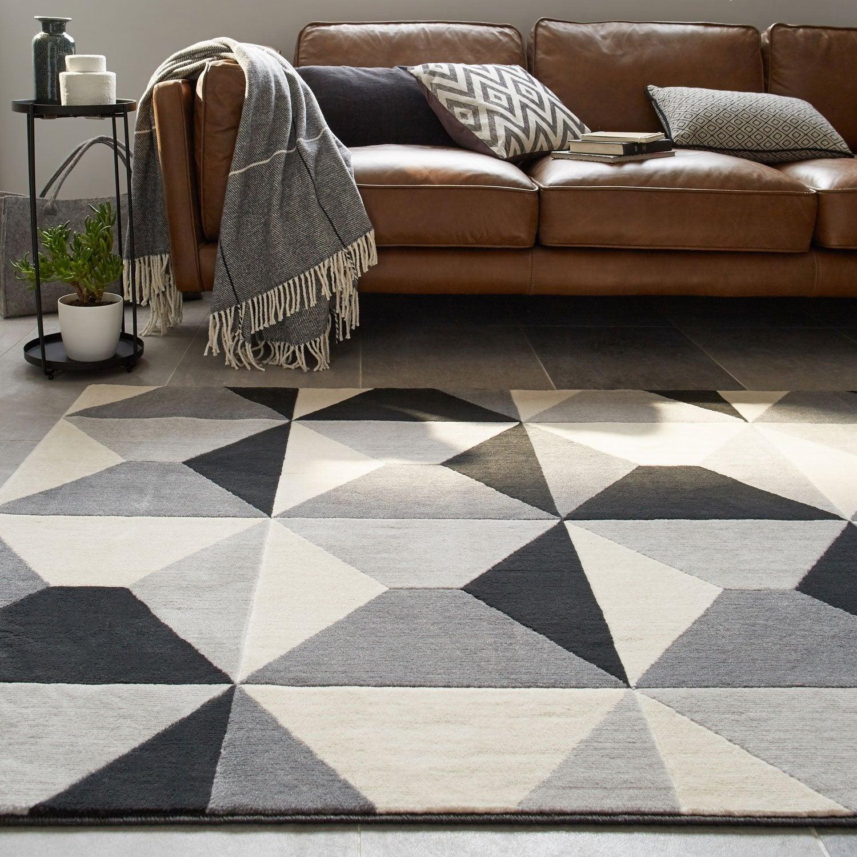 tapis gris velours x cm leroy merlin. Black Bedroom Furniture Sets. Home Design Ideas