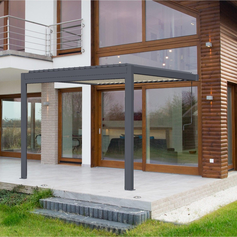 pergola adoss e cadix aluminium gris anthracite 9 m. Black Bedroom Furniture Sets. Home Design Ideas
