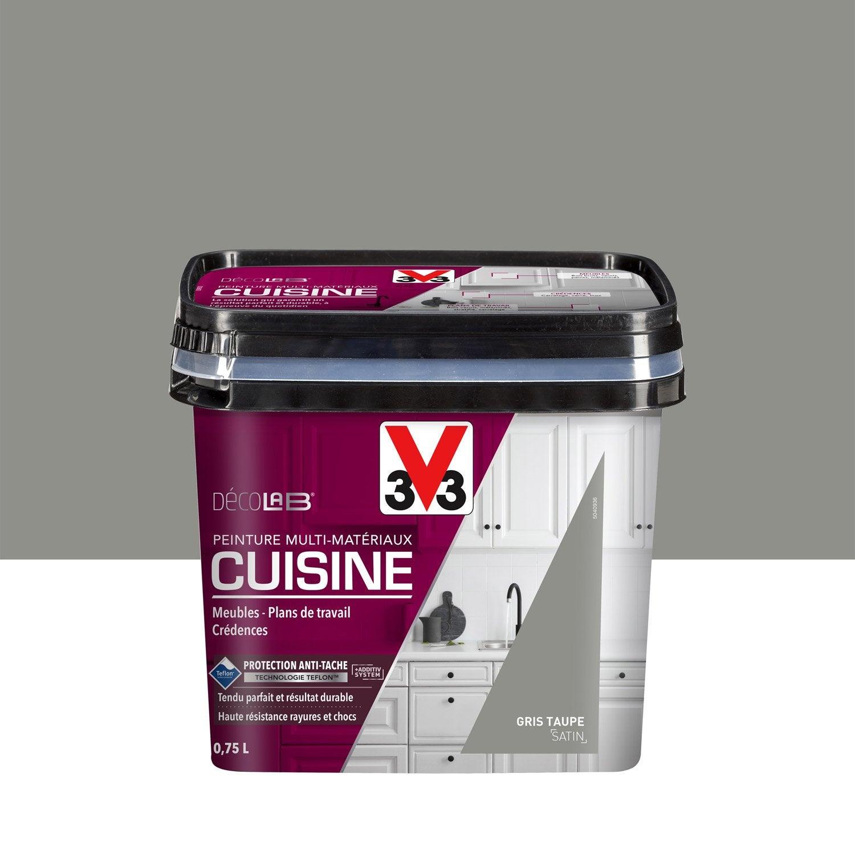 Elegant Peinture Cuisine Meubles, Crédences V33, Gris Taupe, 0.75 L, ...