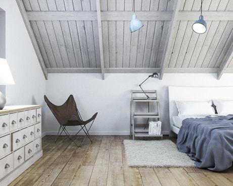 Une chambre claire dans les combles