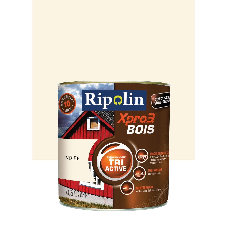 supérieur Peinture bois extérieur / intérieur Xpro 3 RIPOLIN, ivoire, 0.5 l