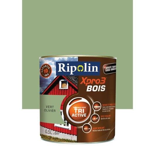 Peinture bois ext rieur int rieur xpro 3 ripolin vert for Peinture couleur lavande