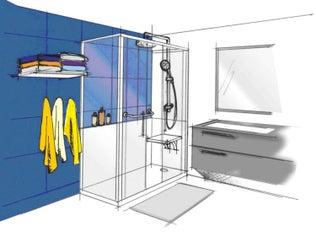 3 idées pour passer d'une baignoire à une douche