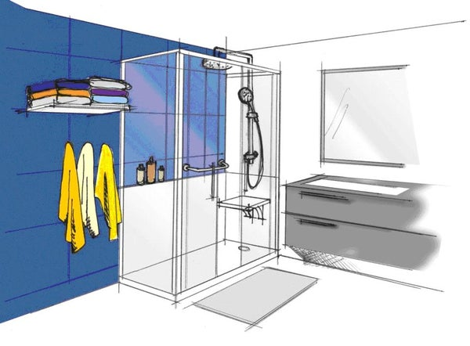 3 id es pour remplacer sa baignoire par une douche leroy merlin. Black Bedroom Furniture Sets. Home Design Ideas