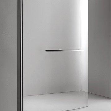 Pare-baignoire 1 volet courbe H.150xl.95 cm verre sécurité transparent Purity3