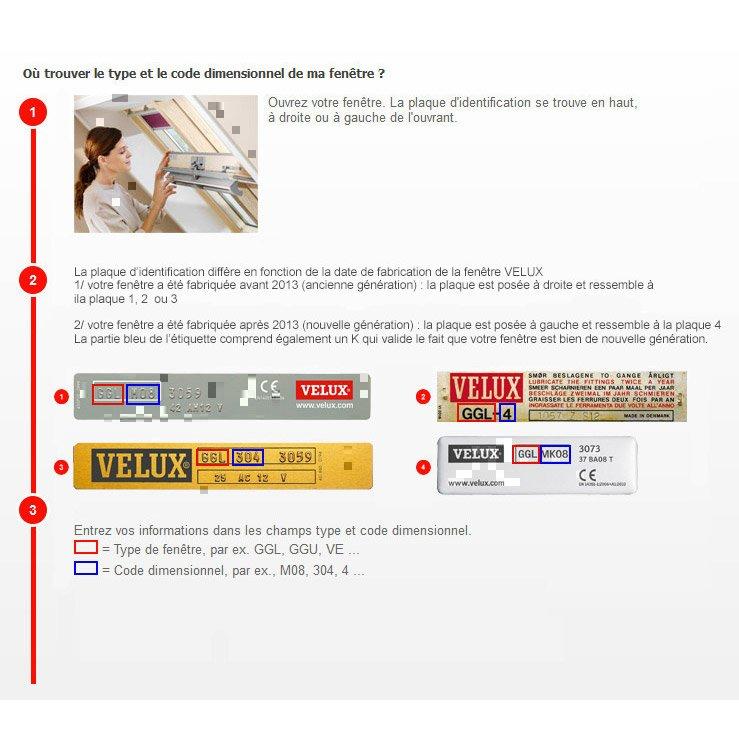 Store Velux Rideau Manuel Bleu Foncé Rhl Sk00