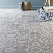 Carrelage sol et mur ivoire effet ciment Arlequin l.20 x L.20 cm