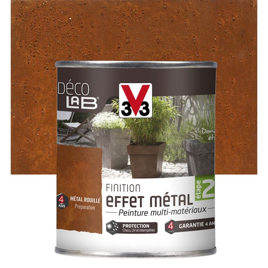 Peinture de finition effet métal extérieur Déco V33, métal rouillé ...