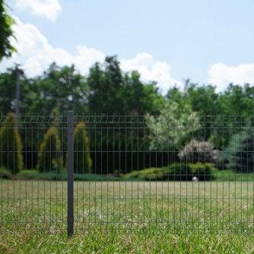 Grillage panneau Soudé gris H.1.03 x L.2m, maille 200x50mm