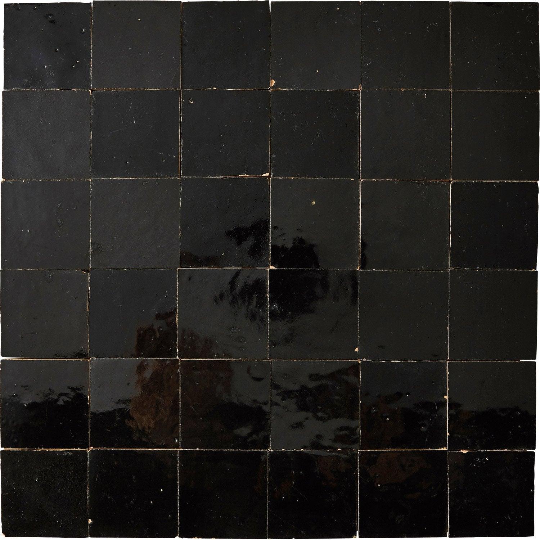 Mosaïque mur Zellige noir 5 x 5 cm | Leroy Merlin
