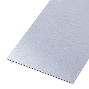 Tôle lisse aluminium anodisé, L.100 x l.60 cm x Ep.0.5 mm