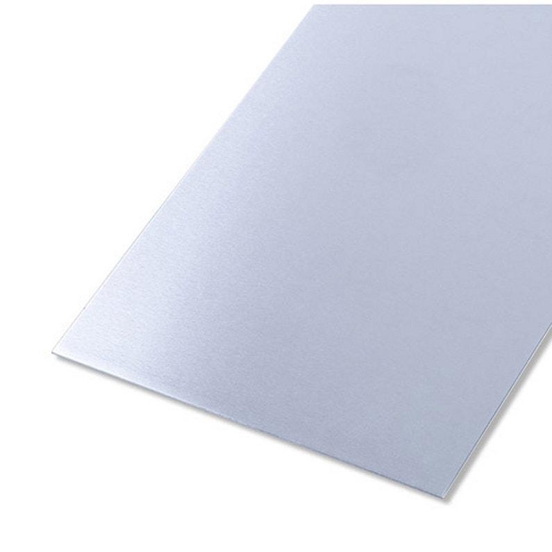 Tôle Aluminium Lisse Brut Gris L12 X L100 Cm Ep08 Mm