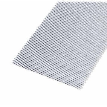 Tôle perforée acier brut, L.100 x l.60 cm x Ep.1.2 mm