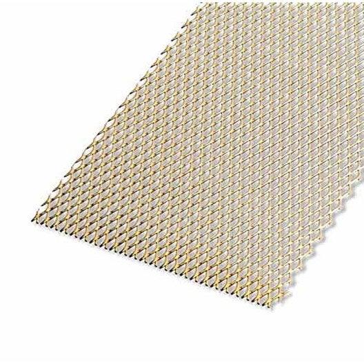 Tôle aluminium perforée anodisé doré l.20 x L.100 cm Ep.1.6 mm