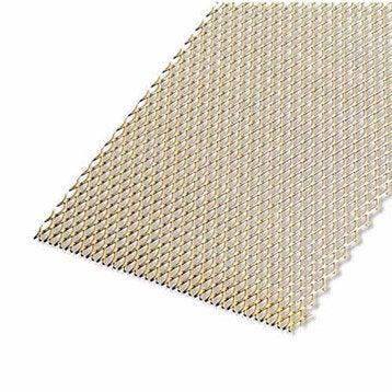 Tôle perforée aluminium anodisé, L.100 x l.60 cm x Ep.1.6 mm