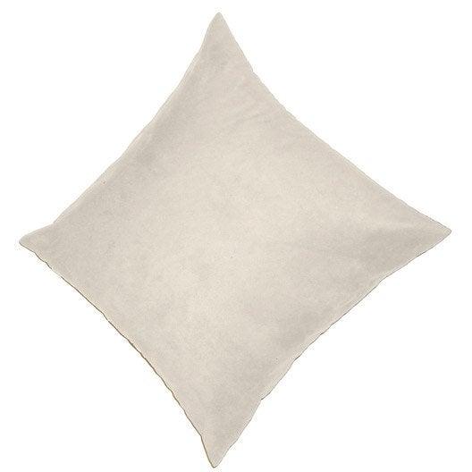 Coussin manchester inspire blanc ivoire n 3 x cm leroy merlin - Blanc comme l ivoire ...