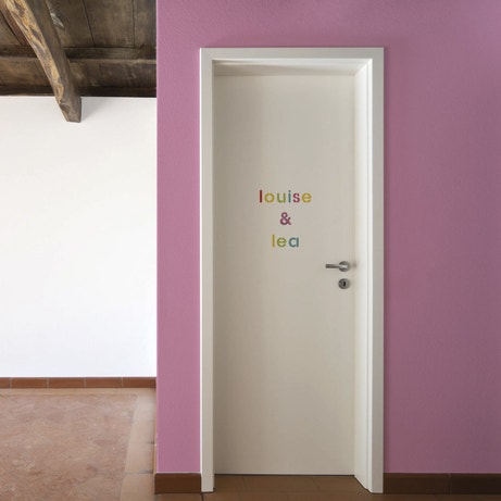 Pochoirs lettres minuscules pour écrire des mots sur la porte