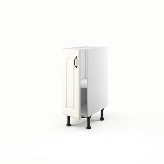 Meuble de cuisine bas chanvre 1 porte ol ron x x for Meuble bas cuisine 30 cm largeur