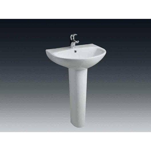 lavabo pour colonne en c ramique blanc nerea leroy merlin. Black Bedroom Furniture Sets. Home Design Ideas