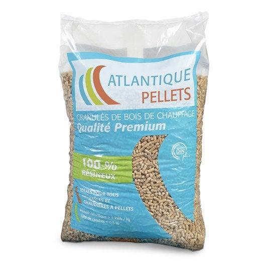 granul s de bois atlantique pellets en sac 15 kg leroy. Black Bedroom Furniture Sets. Home Design Ideas