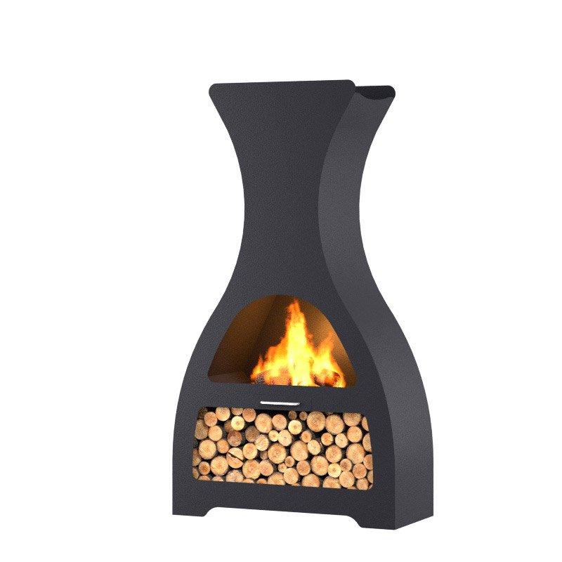 chemin e d 39 ext rieur au charbon de bois barbecook kuro lu. Black Bedroom Furniture Sets. Home Design Ideas