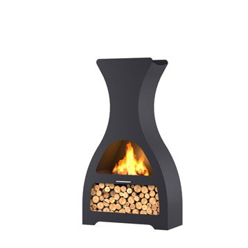 Brasero au charbon de bois BARBECOOK Kuro su 0 brûleurs, noir