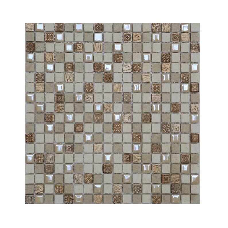 Mosaique Mur Fusion Creme Leroy Merlin