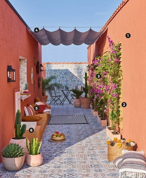 une terrasse comme marrakech leroy merlin. Black Bedroom Furniture Sets. Home Design Ideas
