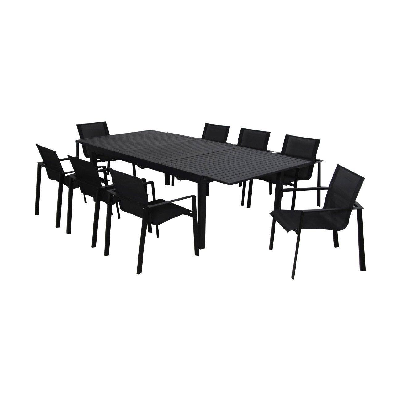 anthracite Table de 6 Miami à 10 de personnes jardin gris repas rectangulaire de redCBox