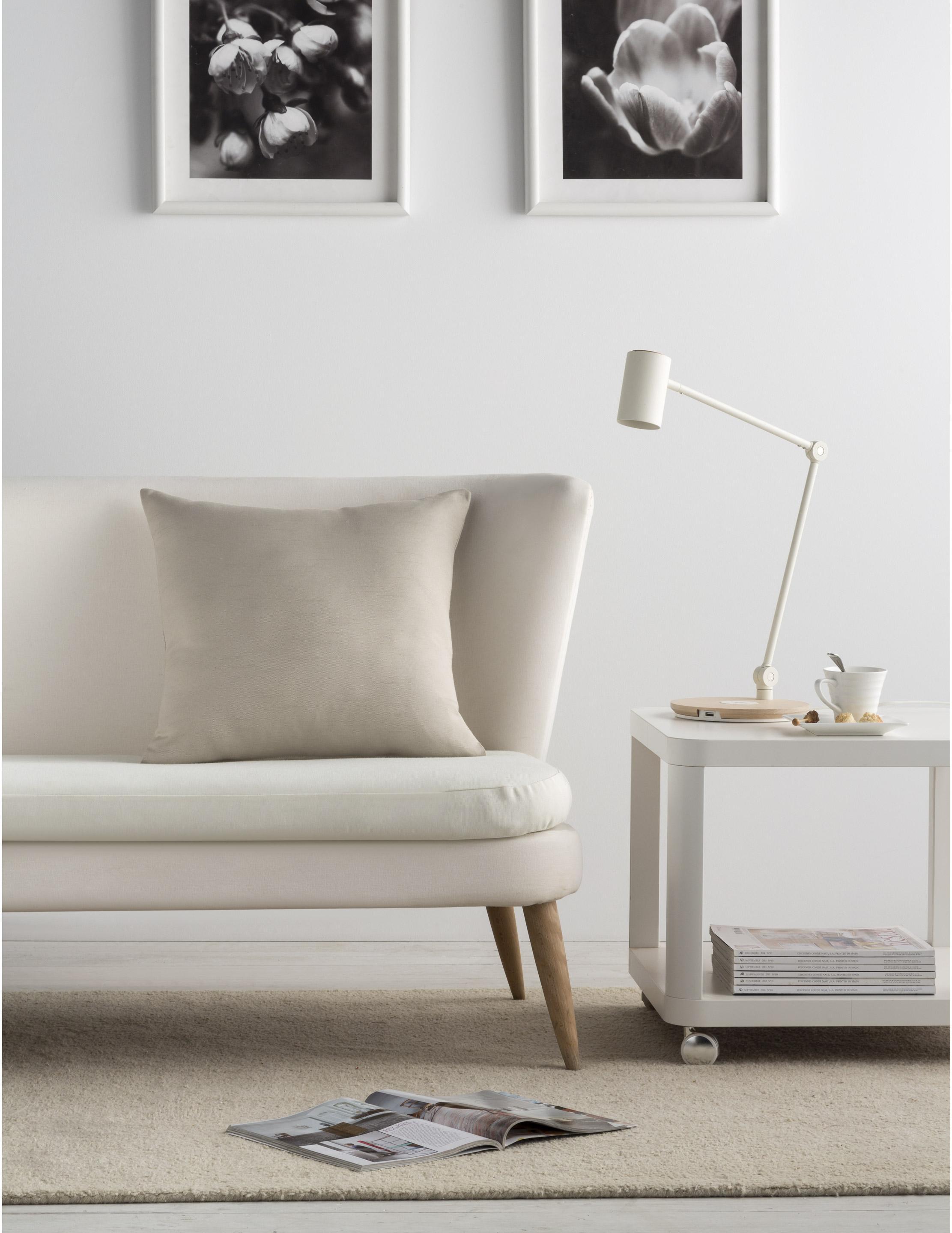 Housse de coussin Indigo, lin H.50 x l.50 cm