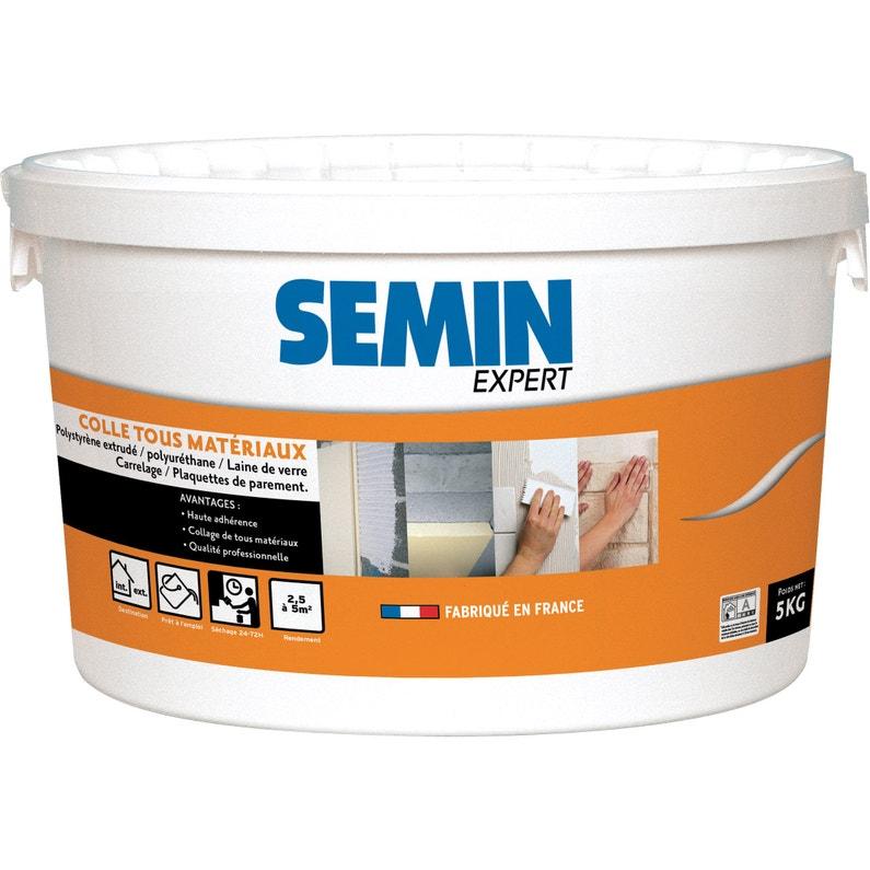 Colle Pâte Pour Matériaux Isolants Semin Expert Blanc 5 Kg
