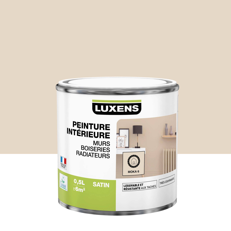 Peinture mur, boiserie, radiateur Multisupports LUXENS moka 6 satiné 0.5 l