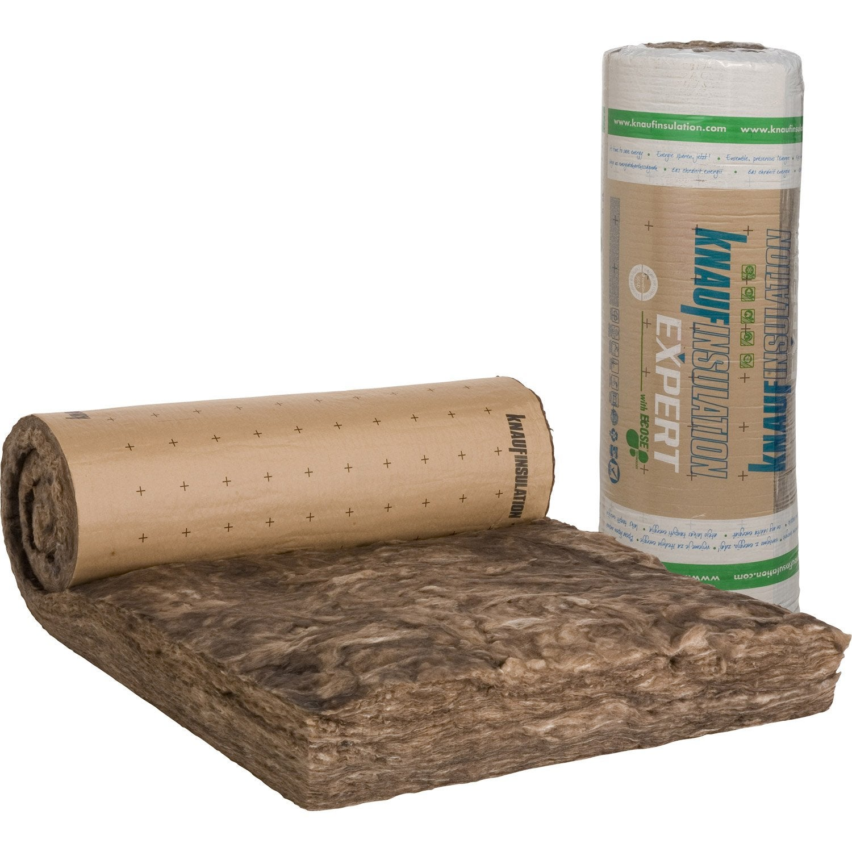 laine de verre kraft knauf insulation 3 6 x 1 2 m ep 260 mm 040 r 6 5 leroy merlin. Black Bedroom Furniture Sets. Home Design Ideas