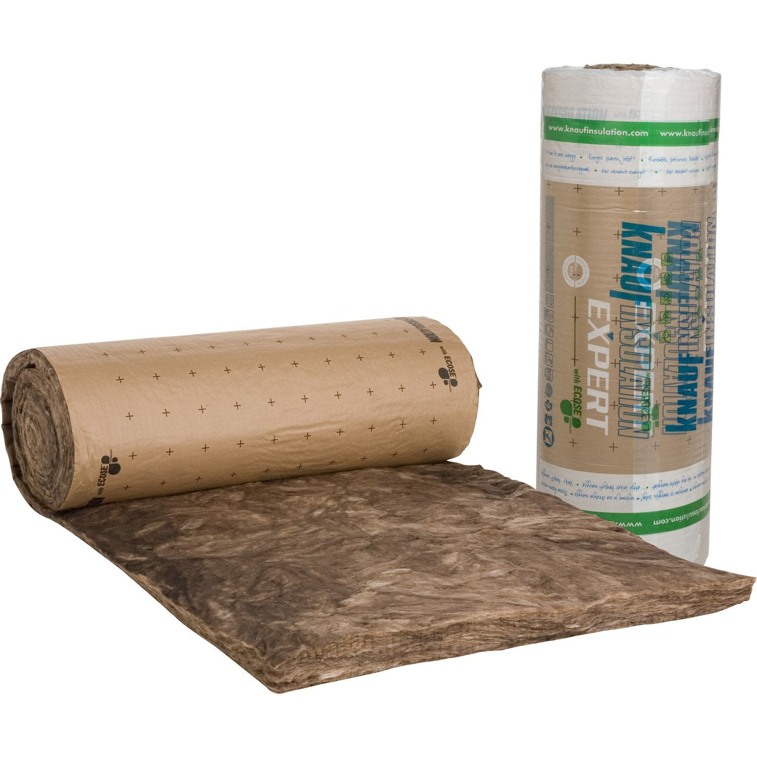 Laine de verre kraft knauf insulation 9 5 x 1 2 m ep 100 - Laine de verre isolation ...