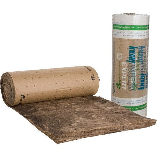 laine de verre kraft knauf insulation 9.5 x 1.2 m, ep. 100 mm, 040