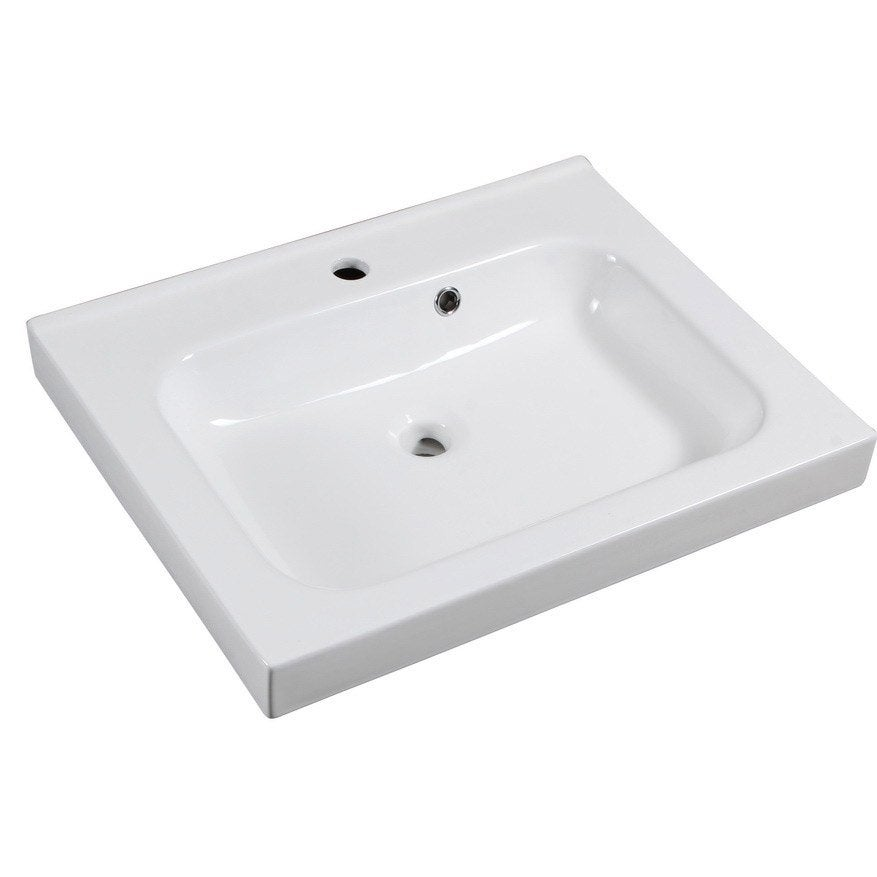 Plan Vasque Simple Remix Céramique L.61 X P.48.5 Cm