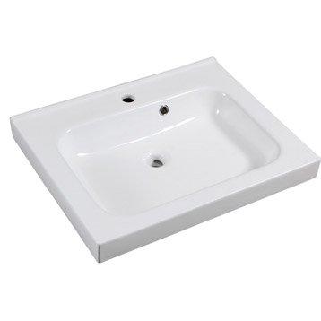 Plan vasque simple Remix Céramique 61 cm