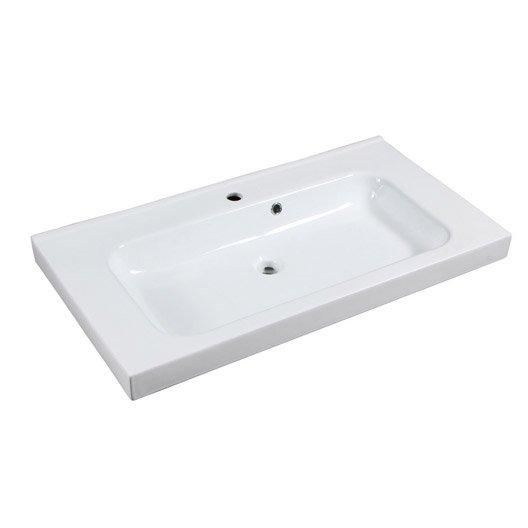 plan vasque simple remix c 233 ramique 91 cm leroy merlin