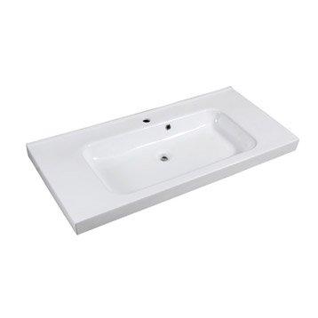 Plan vasque simple Remix Céramique 106 cm
