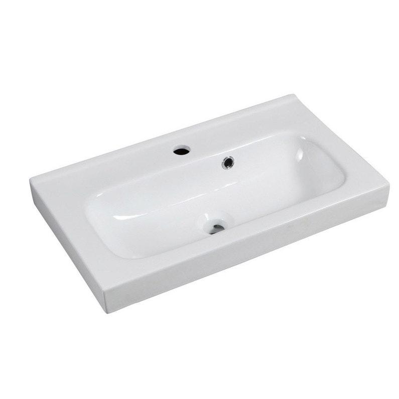 Plan Vasque Simple Remix Céramique L X P35 Cm Leroy Merlin